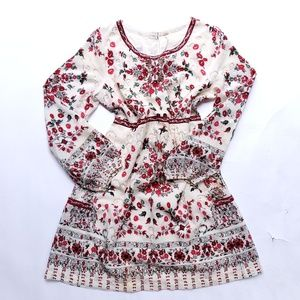 Free People rose flower dress fully lined size 12